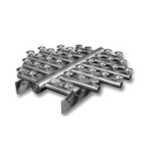 """Вариант устройства на """"бетонном основании"""" с нержавеющими колпачками первого исполнения"""
